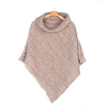 Womens Neck Warmer Cachecol Sweater Cardigan Wraps Ponchos de malha de inverno Poncho (SP609)