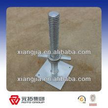 Ringlock Placas base ajustables (tomas de tornillo) para la construcción