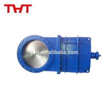 THT válvula de compuerta de cuchilla delta para pulpa de fibra de acero al carbono