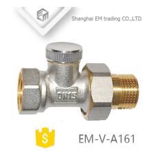 União masculina de bronze EM-V-A161 aquecendo o encaixe de válvula termostática do radiador