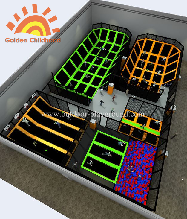 Max Indoor Multi Functional Trampoline Park