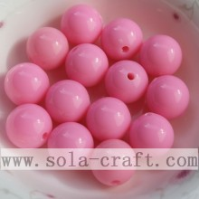 Wholesale Nice Round Smooth Acrylic Accessory Bead