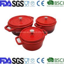 2.8qt Enamel Porcelain Cast Iron Cocotte Dutch Oven China Factory