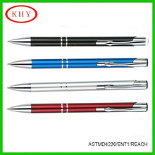 Promotional high quality double ring metal barrel ballpoint pen