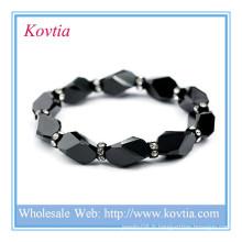 Alibaba bijoux en gros noir bracelet en perles de cristal maison