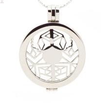Floating Medaillon mit hohler Spinne, Name Medaillon Medaillon Design Schmuck