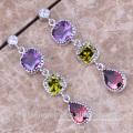 2018 Brazil earrings, cz stud earrings, wholesale fashion jewelry