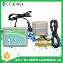 Alarme de fuite d'eau à 2 voies Vanne à laiton à commande électrique pour la détection de fuite d'eau