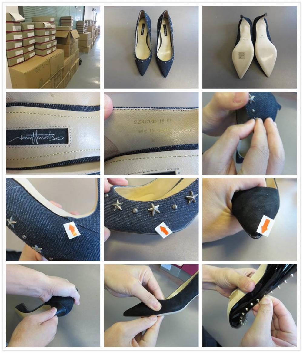 High Heeled Shoes Quality Inspection