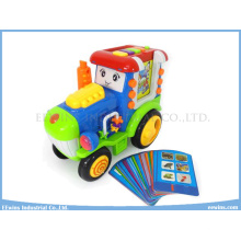 Toys Truck Insert Card Learning Machine Educational Toys with Study, Test, Music, Repeat Function