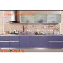 2015 Fábrica directa mini cocina utilizada en acero inoxidable cocina gabinete