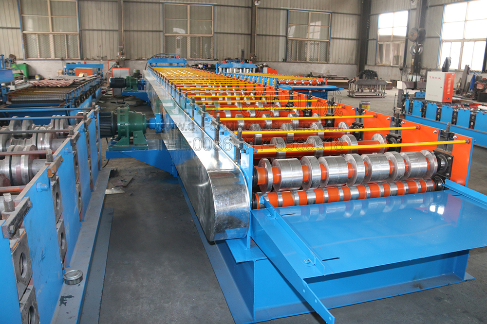 steel tile floor deck roll forming machine