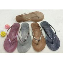 Custom Casual Fashion PVC Paillette Women Slippers Flip Flop