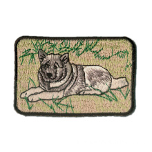 Patches de bordado de ferro com cachorro