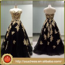 ASAM-04 Off the Shoulder Sweetheart Ball Gown Zipper Back Beaded Appliques Long Evening Dress