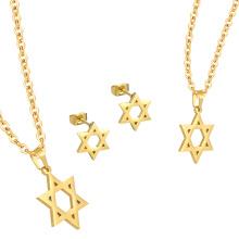 316L Edelstahl Günstige Juwelier Gold Halskette Set Für Frauen