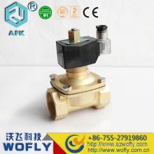 Válvula solenóide de latão de 12V Válvula de água