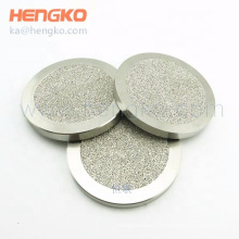 HENGKO stainless steel 316 316L high quality micro holes filter sintered filter disc