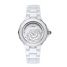 Relojes de señora retros de la venta caliente Relojes de cerámica impermeables de la muñeca del diseño personalizado