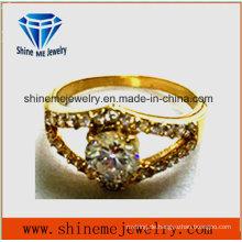 Art- und Weiseschmucksachen 18k Gold überzogener multi Glasstein-Ring