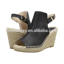 Дешевые высокие пятки сандалии насосы обувь оптовых женщин Espadrille обуви