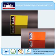 Peinture de poudre de jet de finition rugueuse jaune orange de ride d'orange épaisse