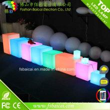 Cubo de luz de plástico