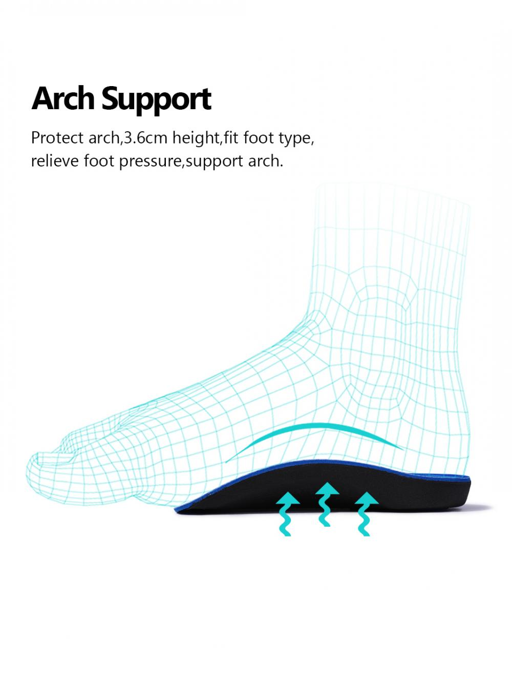 Half Orthotic Arch Support Plantar Fasciitis Insole 5