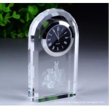 Logotipo personalizado Business Gift Decoration Reloj de cristal