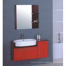 Vaidade do armário do banheiro do PVC de 100cm (B-509)