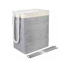DEQI Recycle Foldable Laundry Hamper Laundry Basket with Adjustable Tube Laundry Basket for Toy Clothes Organizer Storage Bag