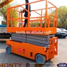 Sistema de elevación de tijera autopropulsado con seguridad y fácil reparación.