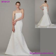 Späteste Art- und Weiseluxux-trägerloses Hochzeits-Kleid mit Qualität