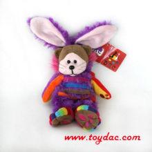 Плюшевый цветной мультфильм кролик