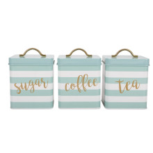 Household kitchen storage canister set of 3