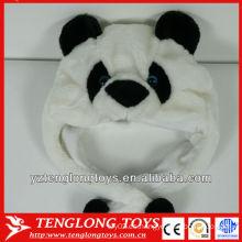 Gorra linda y encantadora del invierno de la felpa de la cara de la panda de la alta calidad con las orejas