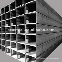 Rectangular hollow steel tube size