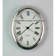 Cheap Mini Quartz Clock Inserts Silver Small Metal Clocks Gift