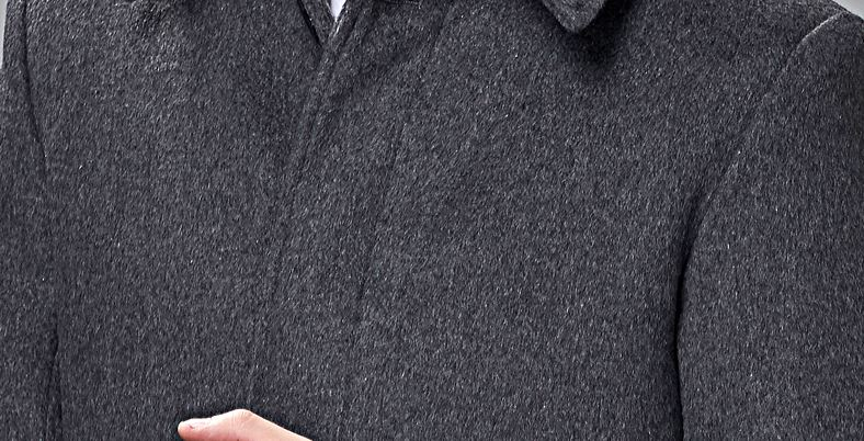 Men's Wool Cashmere Coat -7