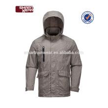 Veste d'hiver imperméable à l'eau avec fermeture à glissière reversible hommes bomer jacket