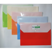 Bj-9009 Double Pockets File Bag, China File Bag, Factory of File Bag in China, with Plastic Snap Fastener