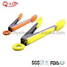 Tongs en silicone Outils en acier inoxydable pour aliments Mini Tongs