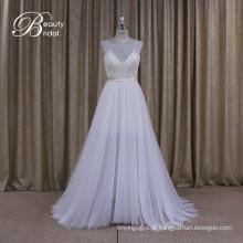 A linha de vestido de noiva de renda fina noivas empregada vestidos vestido de noiva