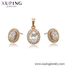 65045 xuping 18K joyería de moda de piedras preciosas plateadas para las mujeres