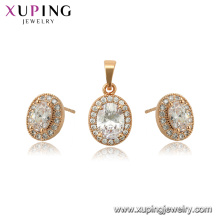 65045 xuping 18K gold plated gemstone fashion jewelry set for women