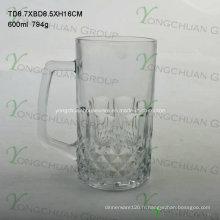 Coupe en verre de 600 ml avec bonne forme Bonne vente 2015