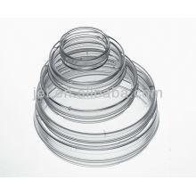 Plats en plastique Petri en plastique jetables