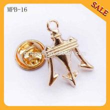 MPB16 Chine usine nouveau produit custom métal attache chapeau chapeau badge badge