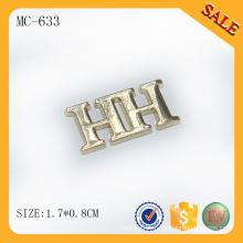 MC633 Custom en alliage de zinc logo jeans étiquette métallique