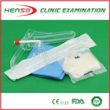 Conjunto de exame de ginecologia descartável médico de Henso